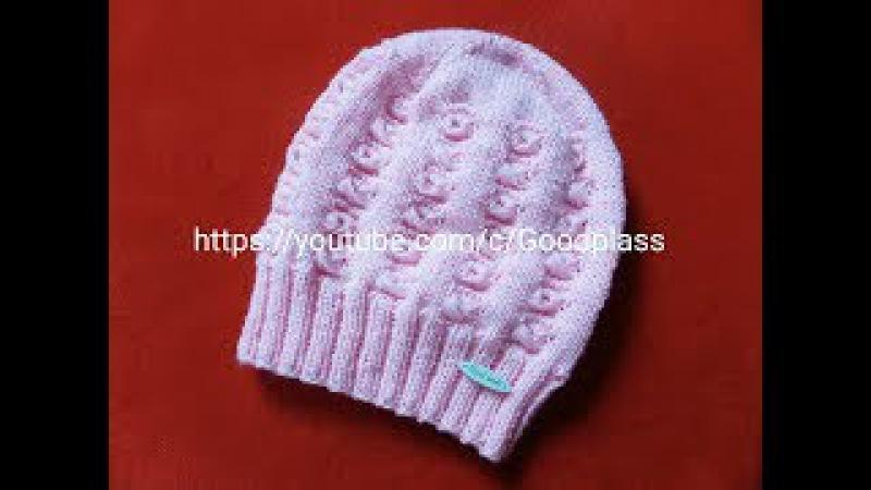 Ажурная, красивая детская шапка. Вязание спицами. Часть 2 Knitting(Hobby).