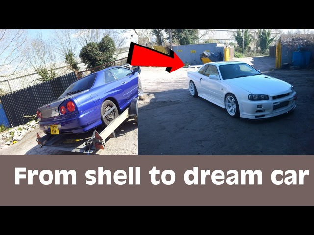 Skyline R34 GTT to GT-R [FULL]Conversion- From shell to dream car