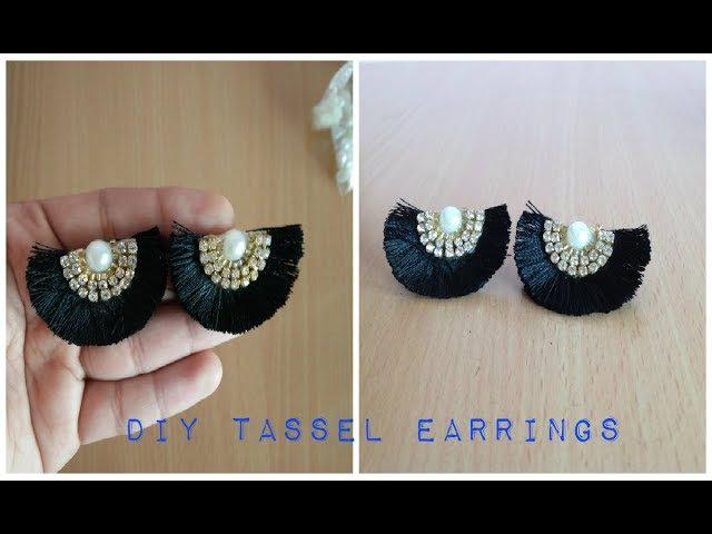 DIY Tassel Earrings II Handmade Silk thread Tassel Earrings