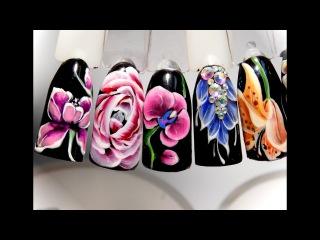 Супер Дизайн ногтей гель лаком цветы орхидея. Попробуй повтори этот простой и мо...