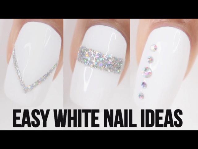 5 EASY WHITE NAIL IDEAS