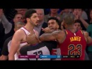 LeBron James vs Frank Ntilikina and Enes Kanter - LeBron mocks Ntilikina!