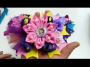 Tutorial Hermosas Flores Doble pétalos en un solo paso, Moños Boutique