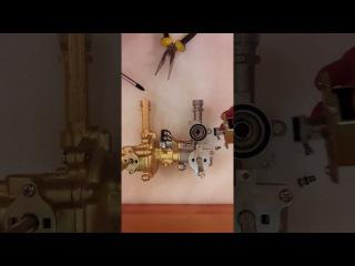 Электромагнитный клапан ВГУ газовой колонки, его функция и замена. Solenoid valve gas water...