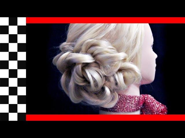 Причёска на бок из двойного жгута | Авторские причёски | Hairstyles by REM | Copyright