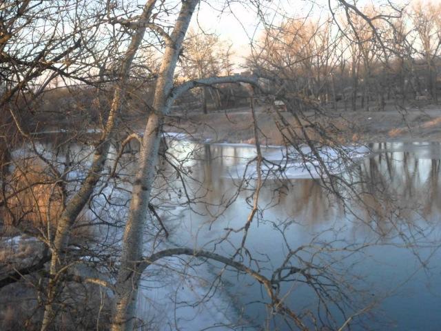 Зимнее утро, февраль, Украина, г.Кобеляки, Полтавская область, р.Ворскла » Freewka.com - Смотреть онлайн в хорощем качестве