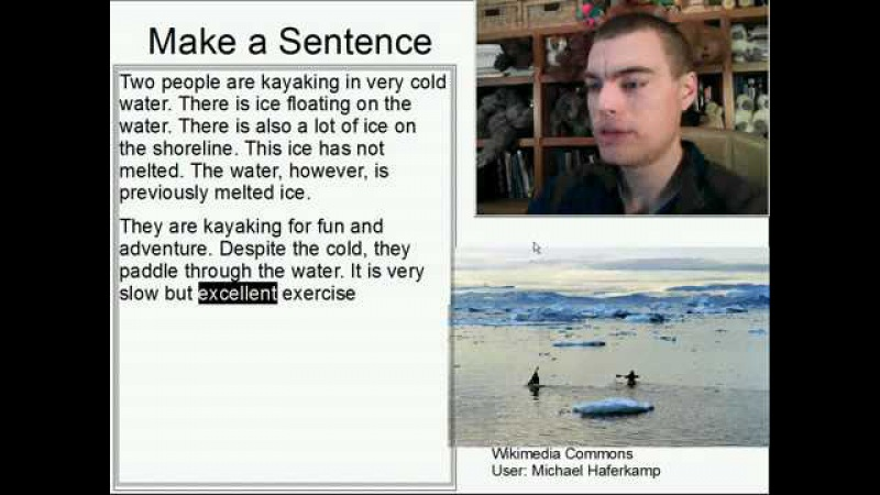 Learn English Make a Sentence and Pronunciation Lesson 94 Kayaking in the Cold