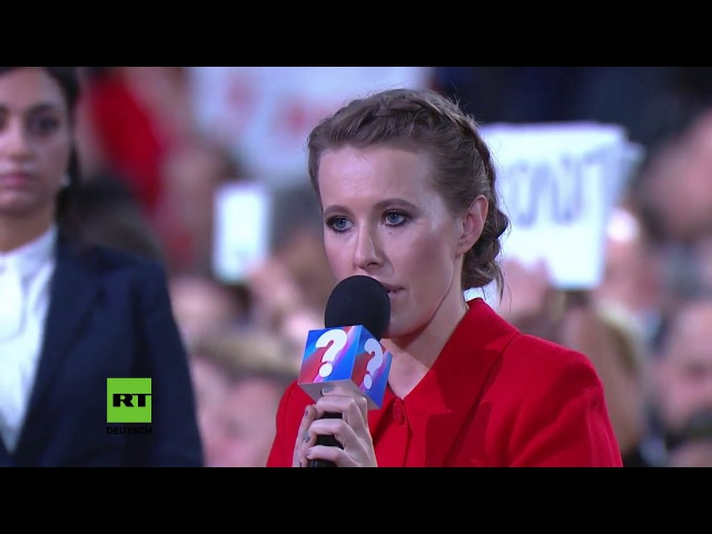 Putin konfrontiert Sobtschak: Wollen Sie, von einem Maidan zum nächsten wechseln?