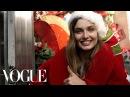 Model Andreea Diaconu Plays Santa on the Streets of New York Vogue