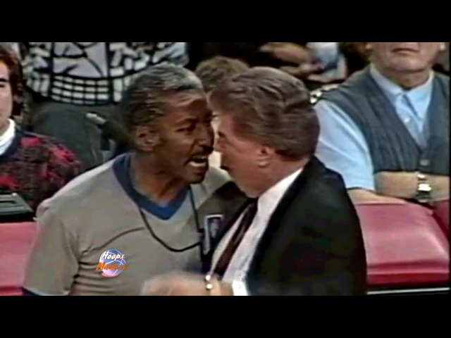 Pistons Coach Chuck Daly vs Referee Face to Face after Technical Foul!