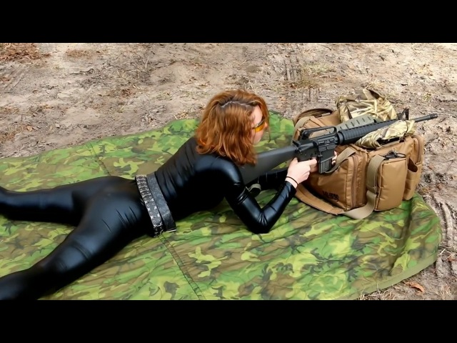 Hot Girls Shooting AR 15's Compilation
