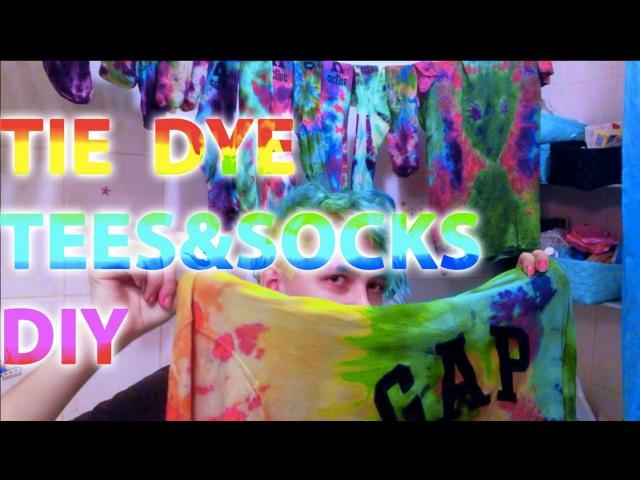 TIE DYE TEES SOCKS DIY