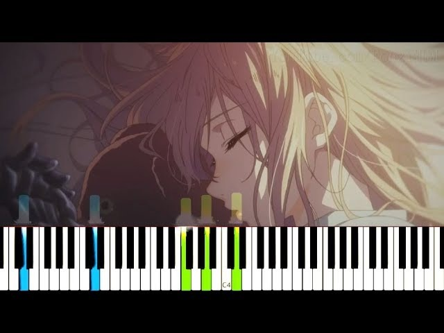 [Violet Evergarden OST] Never Coming Back - Episode 2, 3 4 BGM (Synthesia Piano Tutorial)