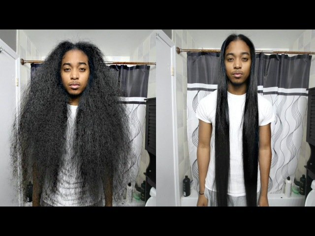 Curly to Straight Hair Tutorial | Gio's Wave