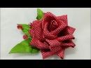 89) Tutorial Kanzashi Rose || Mawar Kanzashi || Ribbon Rose || Kanzashi Flower