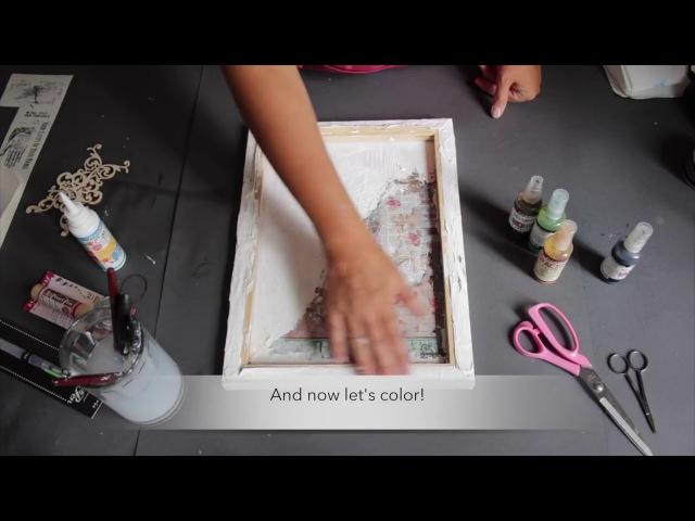 Моника Парута демонстрирует перенос автопортрета на изделие