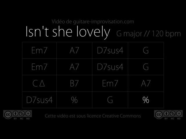 Isn't She Lovely (G) (Stevie Wonder) : Backing Track