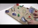 Как сделать Игра За рулём из картона Игра машинка на магните