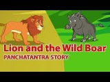 Lion and the Wild Boar | Panchatantra Stories in English | Moral Stories for Kids with Subtitles