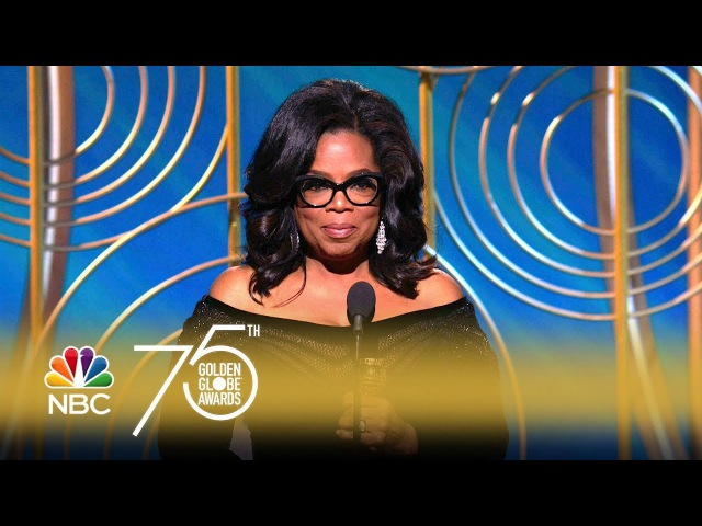 Oprah Winfrey Receives Cecil B. de Mille Award at the 2018 Golden Globes
