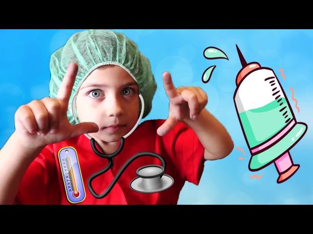 Играем в Доктора с уколами! Доктор Эмилюша лечит плохое зрение маме Смешное виде...