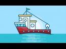 Illustrator Tutorial : Fishing Boat Illustration Design