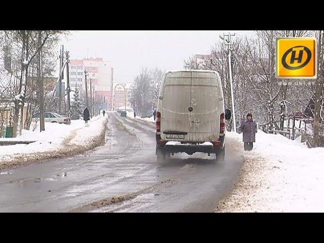 Жители витебских окраин жалуются на заваленные снегом тротуары