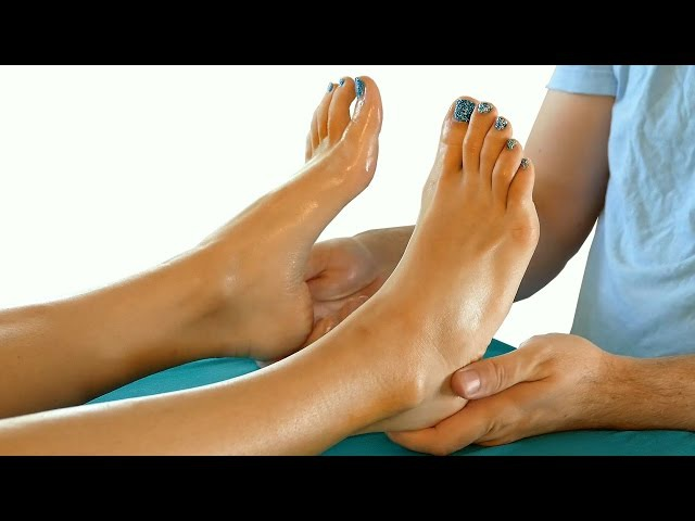 HD Relaxing Foot Massage Tutorial: How to Massage Feet, Relaxing Music Spa Techniques, 60 fps