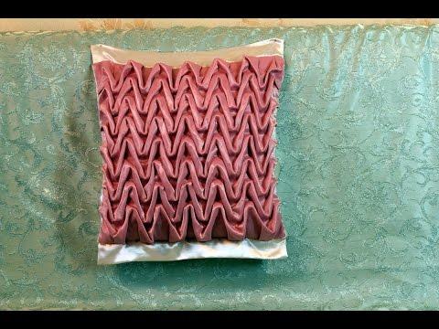 Буфы схема Волна - декоративная подушка.
