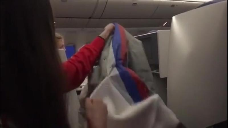 Medvedeva a montré le drapeau russe caché sous son écharpe aux Jeux olympiques de Pyeongchang