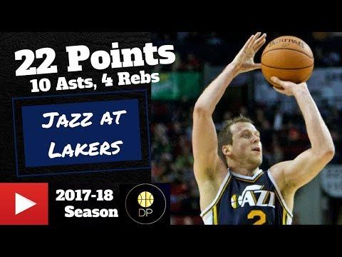 Joe Ingles at Lakers 4818 | 22 Pts, 10 Asts, 4 Rebs