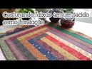 QuiltandoNasFérias tapete sem manta e com faixas costuradas em um tecido como fundação