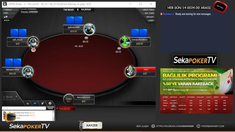 1 Milyon$ GTD MTT Turnuvada SIMAV Final Table için oynuyor! SekaPoker TV
