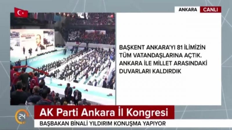 Başbakan Binali yıldırım ın Ankara Ak Parti Kongresi konuşması 18 Şubat 2018