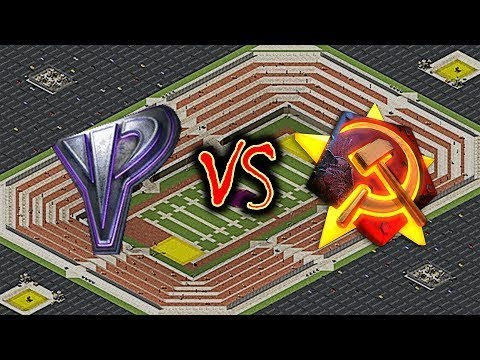 Red Alert 2 Yuri's Revenge - 1 vs 1 Soviet(Iraq) vs Yuri Pro Match on the map Hail Mary