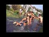 Super Size Slip N' Slide Bikini boob girls:Su kayaklı bikini gösterisi, Turkey, (Applications Storm)