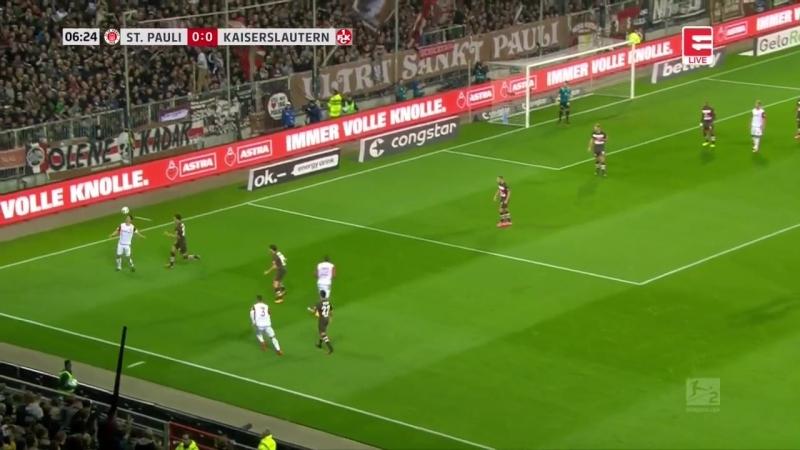 Чемпионат Германии 2017-18 / 2. Bundesliga / 10-й тур / Санкт-Паули - Кайзерслаутерн
