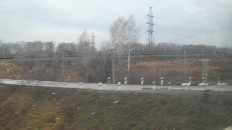 Электропоезд ЭД9М-0034. Покатушки от 17км до Укладочного.