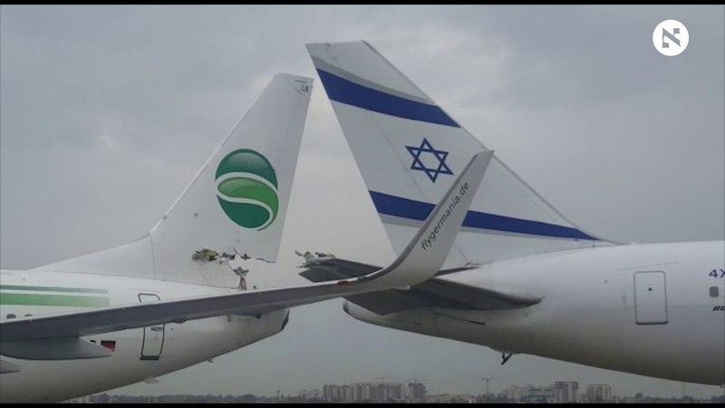 German plane collides with El Al jet on tarmac at Israeli airport