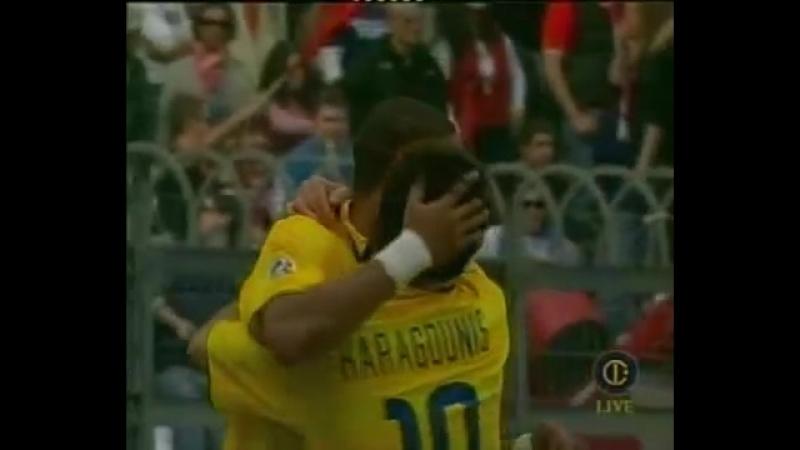Adriano goal Perugia vs Inter 2003/2004