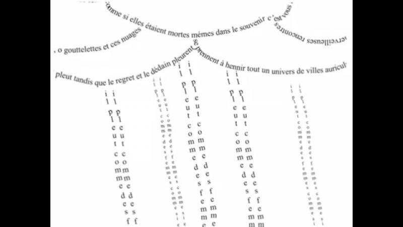 Guillaume APOLLINAIRE - IL PLEUT
