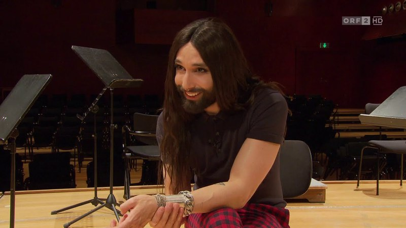 Im Tonstudio mit Conchita (Seitenblicke Weekend, 31.03.2018)