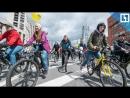 Тысячи велосипедистов на Садовом кольце