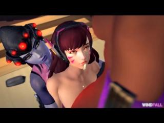 D.va Gets Ambushed And Fucked By Futa Widowmaker And Sombra