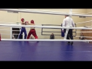 2 раунд, красный угол Никитин Артем, синий угол Цуркан Николай,финальный бой.