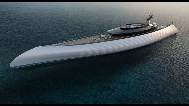 TUHURA by Oceanco 115m Luxury Yacht Concept with Canoe Stern