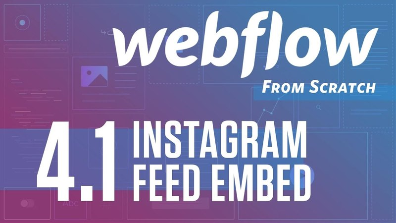 GIVEAWAY Webflow From Scratch – part 4 (Instagram Feed Embed)