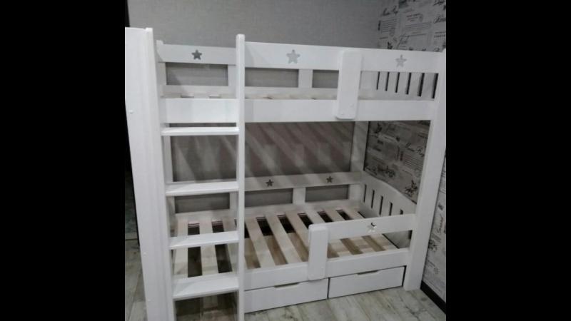 двухъярусная кровать 5 Звезд с ящиками