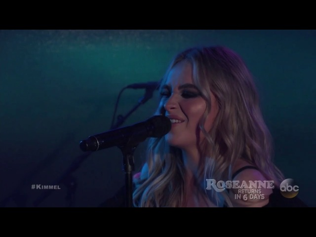 Sabrina Carpenter and Jonas Blue Performing 'Alien' on Jimmy Kimmel Live - March 21, 2018