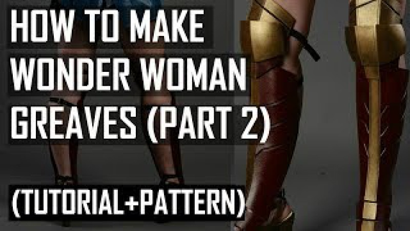 How to make Wonder Woman Greaves / boots Tutorial (PART 2)